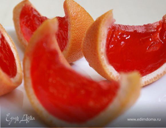 Желе в грейпфрутах/Grapefruit jelly