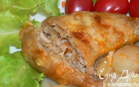 Рецепт Куриная ножка, фаршированная капустой