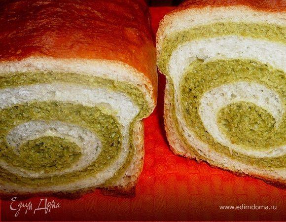 Хлеб шпинатно-пшеничный