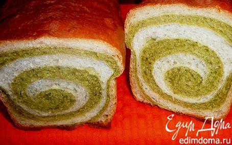 Рецепт Хлеб шпинатно-пшеничный