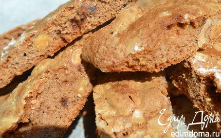 Рецепт Бискотти с орехами и белым шоколадом