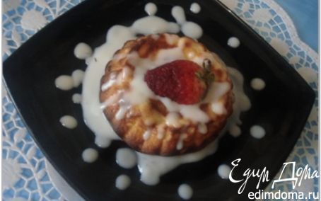 Рецепт Творожный пудинг со сливочным соусом