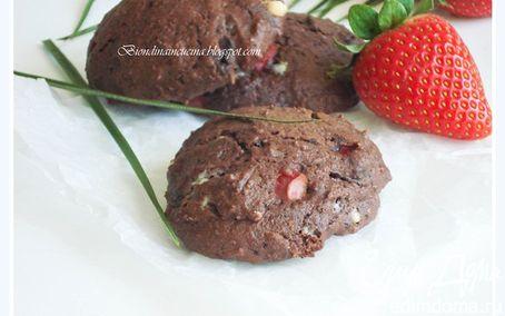 Рецепт Мега шоколадные сконы с клубникой