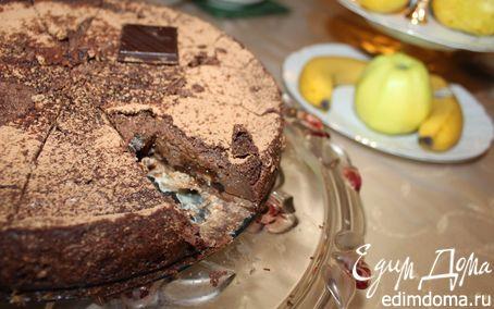 Рецепт Шоколадный чизкейк с кокосовыми вафлями и черносливом