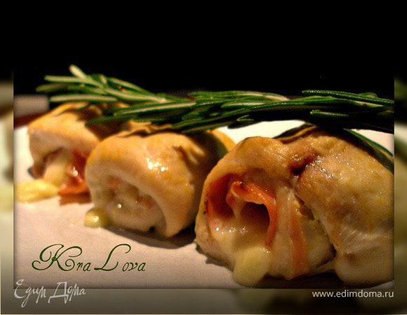 Куриные роллы с беконом и сыром