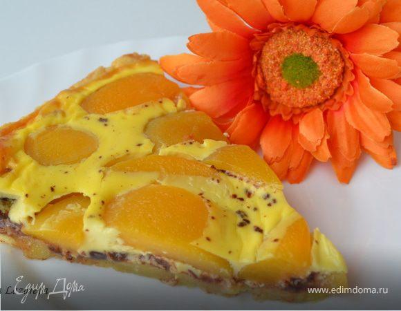 Шоколадно-персиковый тарт