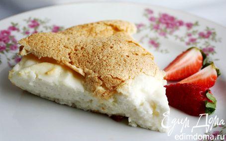 Рецепт Творожно-бисквитный пирог