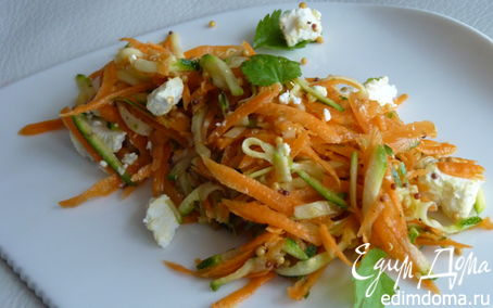 Рецепт Салат из цукини, моркови и козьего сыра