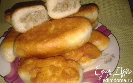 Рецепт Пирожки с мясом и рисом /из заварного дрожжевого теста без яиц/
