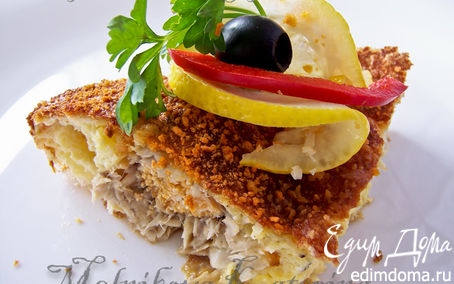 Рецепт Камбала под сырным суфле по-французски