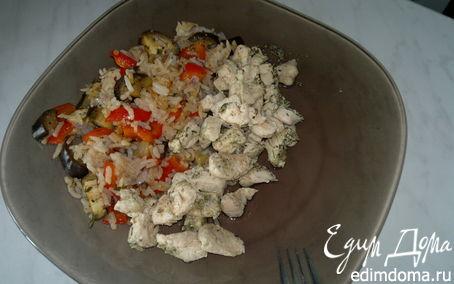 Рецепт Рис с весенними овощами и куриная грудка в травах