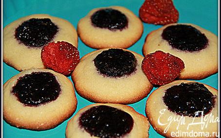 Рецепт Быстрое печенье с черничным вареньем