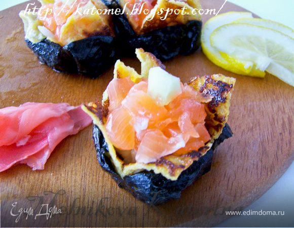 Дзакуро-суши (суши-гранат) + рецепт японского омлета