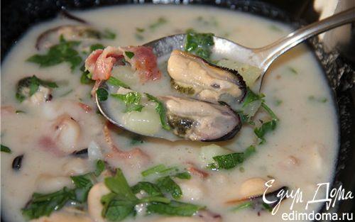 Рецепт Чаудер с моллюсками из Новой Англии (New England Clam Chowder)