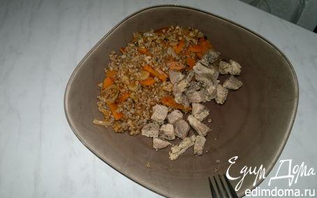 Рецепт Гречка с морковью и луком ( классика ) и свиная лопатка с шалфеем и чабрецом