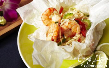 Рецепт – Королевские креветки в кисло-сладком соусе по-тайски в пароварке