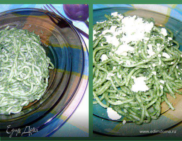 Спагетти с крапивой