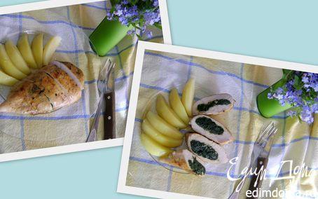 Рецепт Куриная грудка, фаршированная крапивой