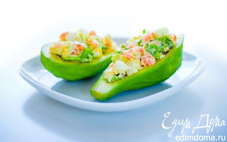 """Рецепт Салат """"Лодочки авокадо"""""""