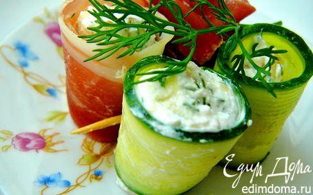 Рецепт Закуска с огурцом и прошутто