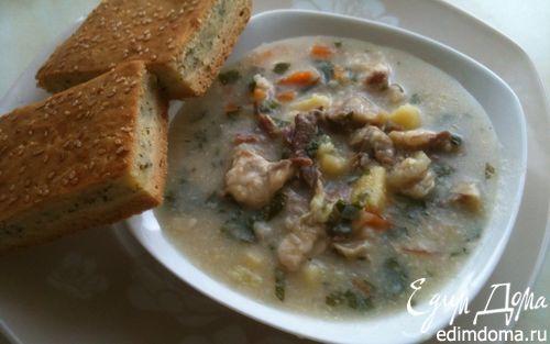 Рецепт Суп с бараниной и сыром сулугуни и пирог к нему