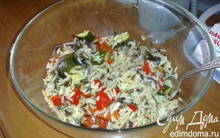 Рецепт Салат из смеси риса с печеными овощами