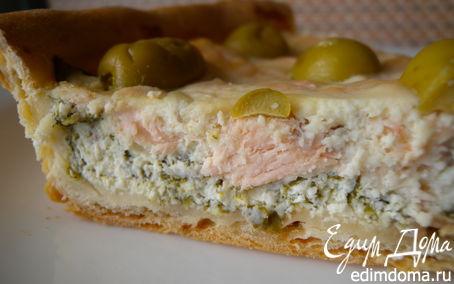 Рецепт Тарт с рыбой и творожным сыром