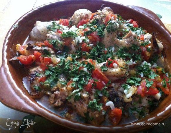 Коккинисто или курица по-гречески