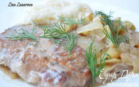 Рецепт Свиные отбивные под греческим соусом