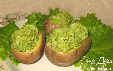 Рецепт Картофель с зеленью, сыром и орешками