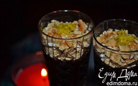 Рецепт Шоколадно-ванильный мусс с лимонной цедрой