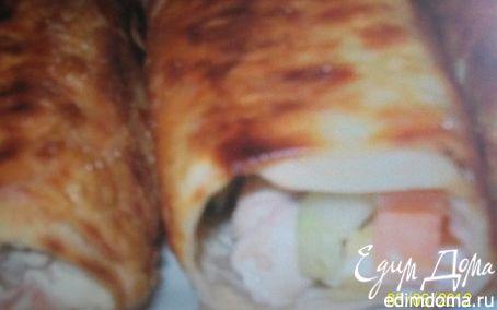 Рецепт Лаваш из курицы с чесночным соусом