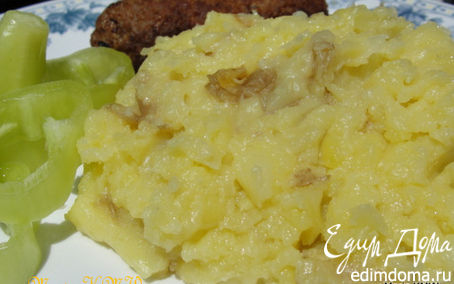 Рецепт Картофельное пюре с твердым сыром