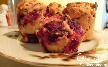 Рецепт Кукурузные маффины с ягодами и кардамоном