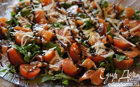 Рецепт Салат с руколой и лососем