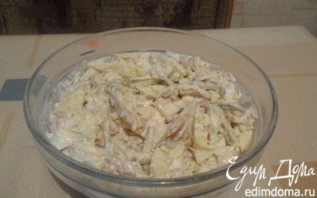 Рецепт Салат с капустой и печенью трески