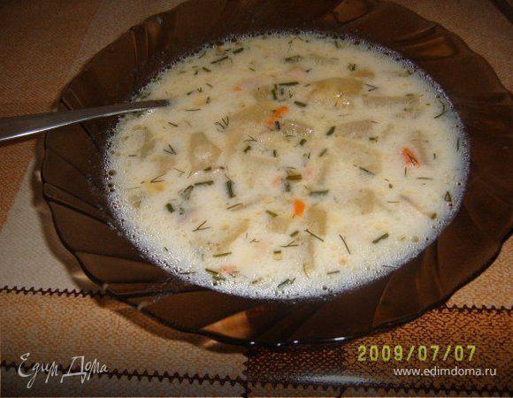 Суп грибной с плавленым сырком