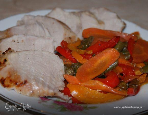 Свиная вырезка с овощами в азиатском стиле