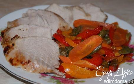 Рецепт Свиная вырезка с овощами в азиатском стиле