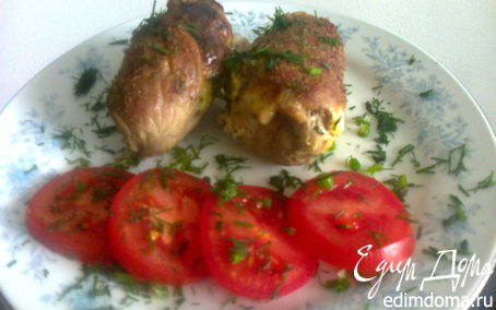 Рецепт Мясные рулетики с начинкой из омлета и печени