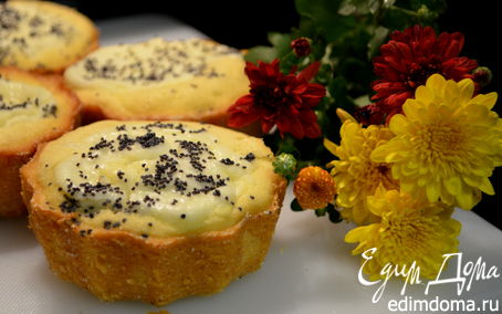 Рецепт Кексы со сливочным сыром и маком