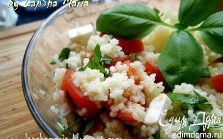 Рецепт Салат с кускусом, помидорами и фетой