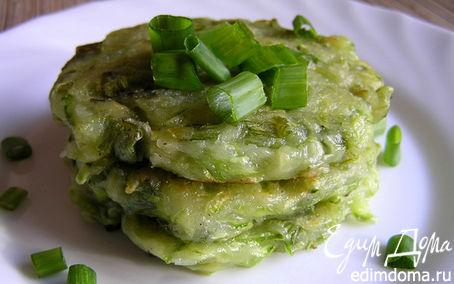 Рецепт Кабачковые оладьи с зеленым луком