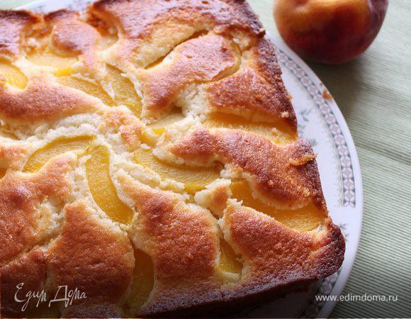 Простой персиковый пирог