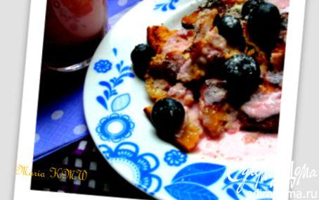Рецепт Летний завтрак с клубничным кефиром (Кайзершмаррн)