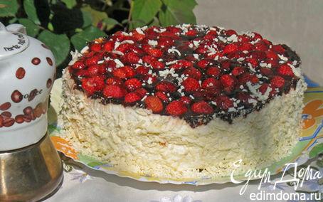 Рецепт Маково-клубничный торт