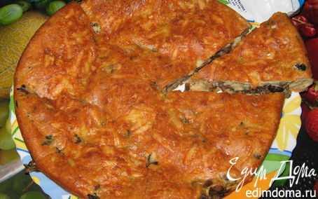 Рецепт Заливной пирог с грибами