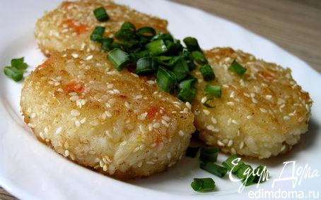 Рецепт Рисовые котлетки в кунжутной панировке