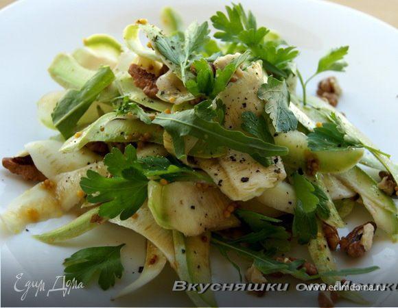 Легкий салат из кабачков