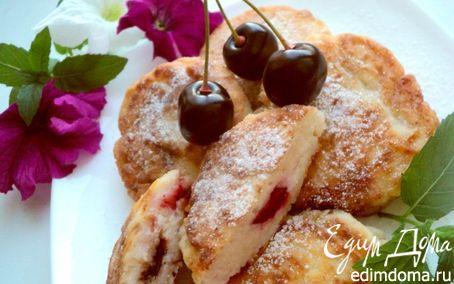Рецепт Сырники с вишней и шоколадом